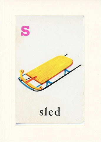 S is for Sled - PLYMOUTH CARD COMPANY  - 17