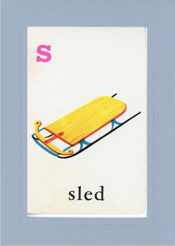 S is for Sled - PLYMOUTH CARD COMPANY  - 16