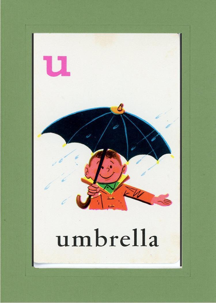 U is for Umbrella - PLYMOUTH CARD COMPANY  - 7