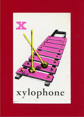 X is for Xylophone - PLYMOUTH CARD COMPANY  - 27