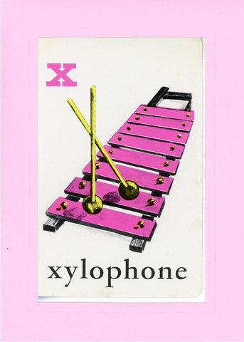 X is for Xylophone - PLYMOUTH CARD COMPANY  - 32