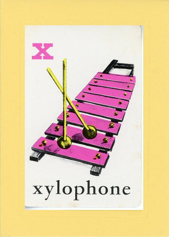 X is for Xylophone - PLYMOUTH CARD COMPANY  - 3