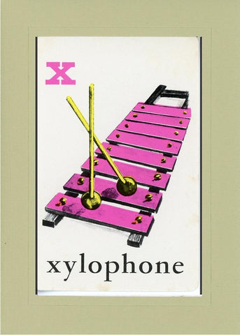 X is for Xylophone - PLYMOUTH CARD COMPANY  - 28