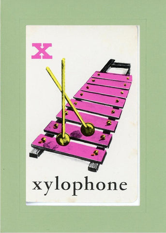 X is for Xylophone - PLYMOUTH CARD COMPANY  - 31