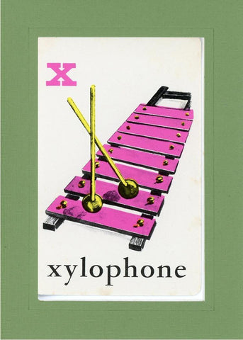 X is for Xylophone - PLYMOUTH CARD COMPANY  - 7