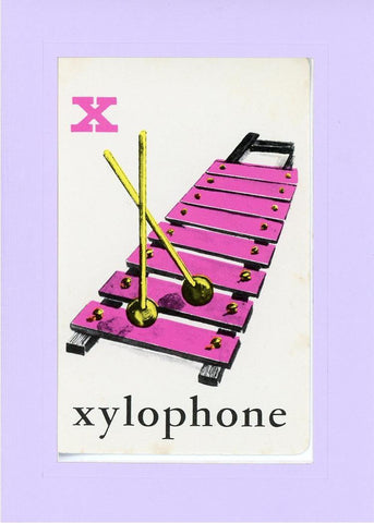X is for Xylophone - PLYMOUTH CARD COMPANY  - 14