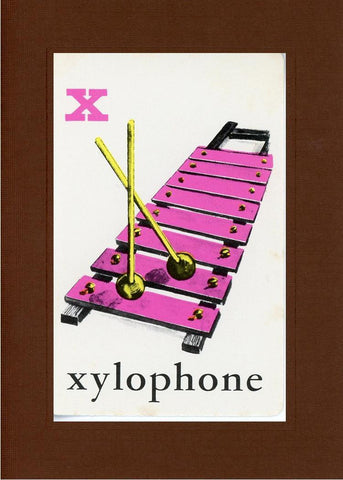 X is for Xylophone - PLYMOUTH CARD COMPANY  - 22