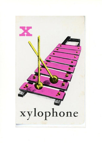 X is for Xylophone - PLYMOUTH CARD COMPANY  - 19