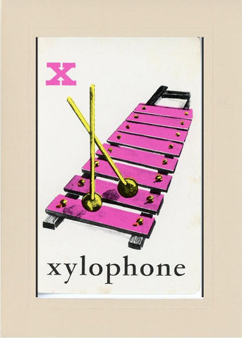 X is for Xylophone - PLYMOUTH CARD COMPANY  - 21
