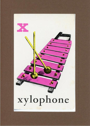X is for Xylophone - PLYMOUTH CARD COMPANY  - 24