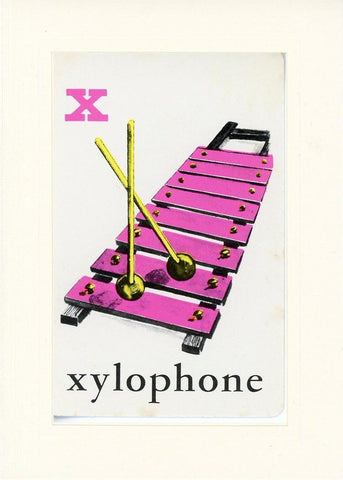 X is for Xylophone - PLYMOUTH CARD COMPANY  - 16