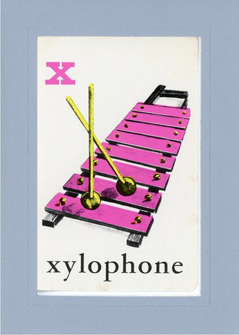 X is for Xylophone - PLYMOUTH CARD COMPANY  - 15