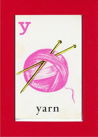 Y is for Yarn - PLYMOUTH CARD COMPANY  - 5
