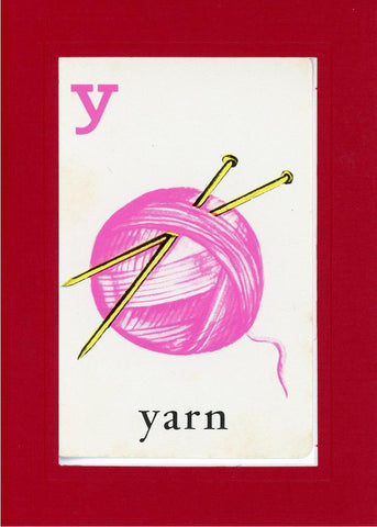 Y is for Yarn - PLYMOUTH CARD COMPANY  - 25