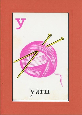 Y is for Yarn - PLYMOUTH CARD COMPANY  - 7