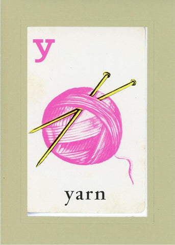 Y is for Yarn - PLYMOUTH CARD COMPANY  - 26
