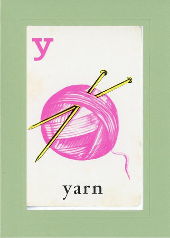 Y is for Yarn - PLYMOUTH CARD COMPANY  - 29