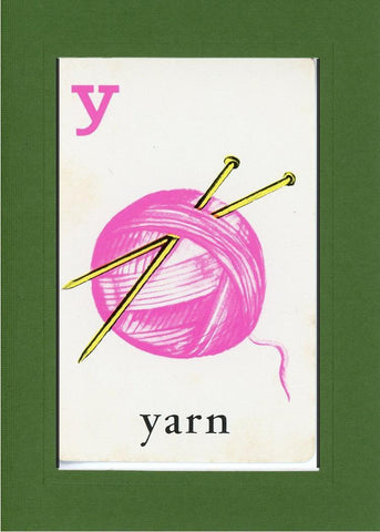Y is for Yarn - PLYMOUTH CARD COMPANY  - 8