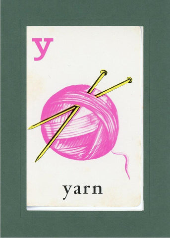 Y is for Yarn - PLYMOUTH CARD COMPANY  - 32