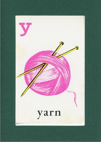 Y is for Yarn - PLYMOUTH CARD COMPANY  - 9
