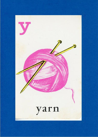 Y is for Yarn - PLYMOUTH CARD COMPANY  - 23