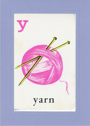 Y is for Yarn - PLYMOUTH CARD COMPANY  - 18