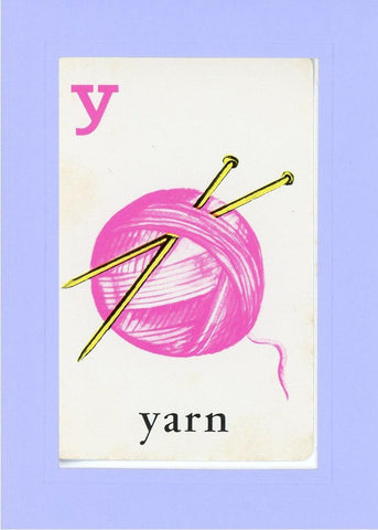 Y is for Yarn - PLYMOUTH CARD COMPANY  - 19
