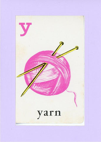 Y is for Yarn - PLYMOUTH CARD COMPANY  - 15