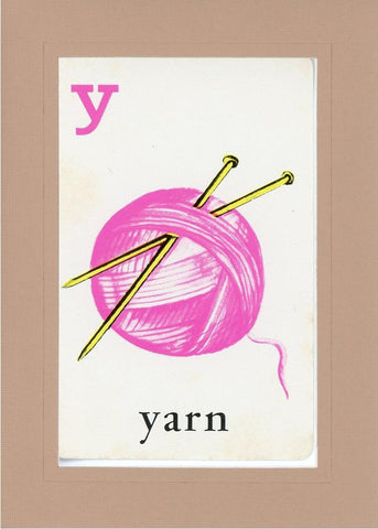 Y is for Yarn - PLYMOUTH CARD COMPANY  - 27
