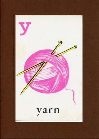 Y is for Yarn - PLYMOUTH CARD COMPANY  - 20