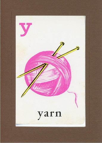 Y is for Yarn - PLYMOUTH CARD COMPANY  - 22
