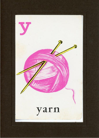 Y is for Yarn - PLYMOUTH CARD COMPANY  - 12