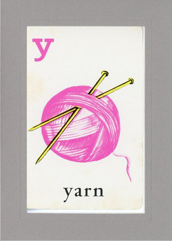 Y is for Yarn - PLYMOUTH CARD COMPANY  - 13