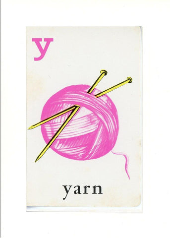 Y is for Yarn - PLYMOUTH CARD COMPANY  - 33