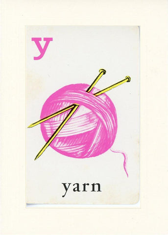 Y is for Yarn - PLYMOUTH CARD COMPANY  - 17