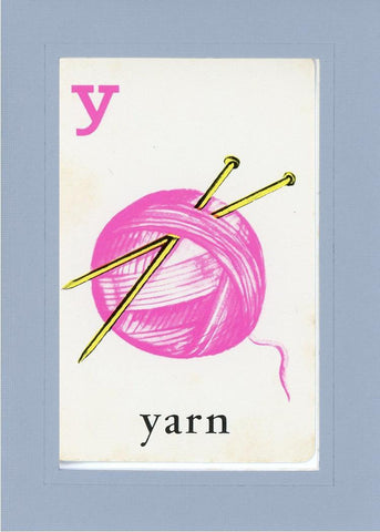 Y is for Yarn - PLYMOUTH CARD COMPANY  - 16