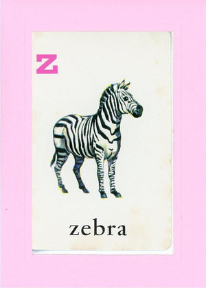 Z is for Zebra - PLYMOUTH CARD COMPANY  - 30