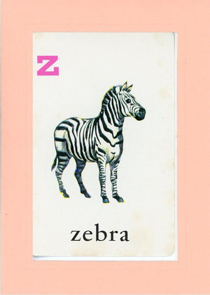 Z is for Zebra - PLYMOUTH CARD COMPANY  - 25