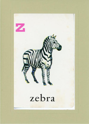 Z is for Zebra - PLYMOUTH CARD COMPANY  - 27
