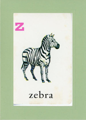Z is for Zebra - PLYMOUTH CARD COMPANY  - 34