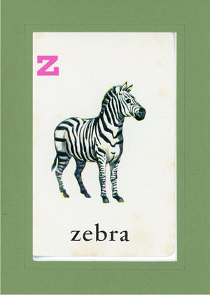 Z is for Zebra - PLYMOUTH CARD COMPANY  - 8