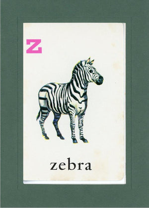 Z is for Zebra - PLYMOUTH CARD COMPANY  - 33
