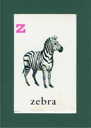Z is for Zebra - PLYMOUTH CARD COMPANY  - 12