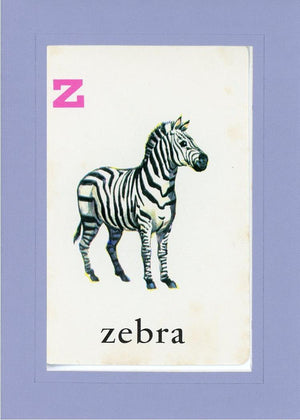 Z is for Zebra - PLYMOUTH CARD COMPANY  - 19