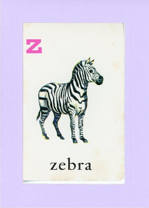 Z is for Zebra - PLYMOUTH CARD COMPANY  - 16