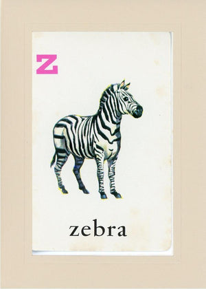 Z is for Zebra - PLYMOUTH CARD COMPANY  - 32