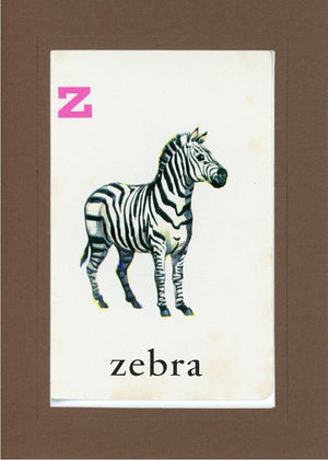 Z is for Zebra - PLYMOUTH CARD COMPANY  - 23