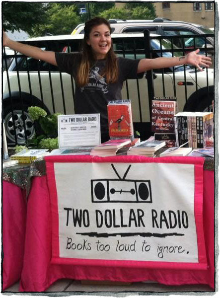 Two Dollar Radio Books Too Loud To Ignore, Molly Delaney at the booth
