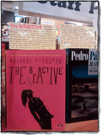 Two Dollar Radio title The Reactive by Masande Ntshanga at Unabridged Bookstore in Chicago