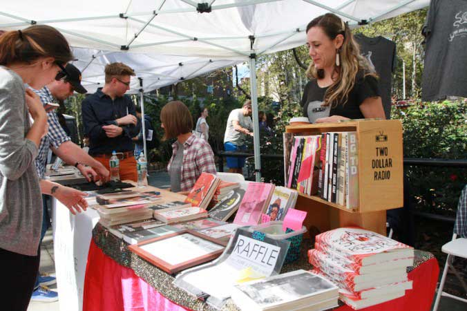 Two Dollar Radio Booth at Brooklyn Book Festival
